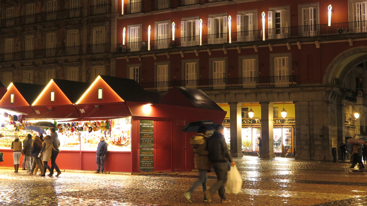 Mercado navideño de la Plaza Mayor de Madrid