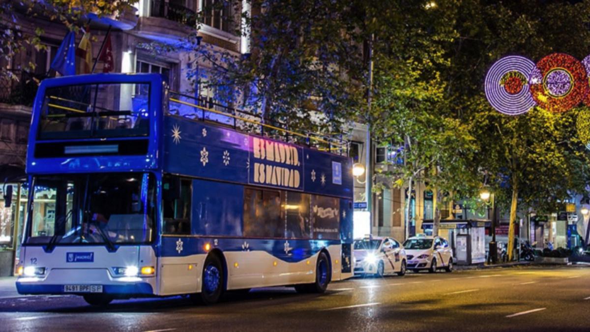 Naviluz el autobús de la Navidad en Madrid