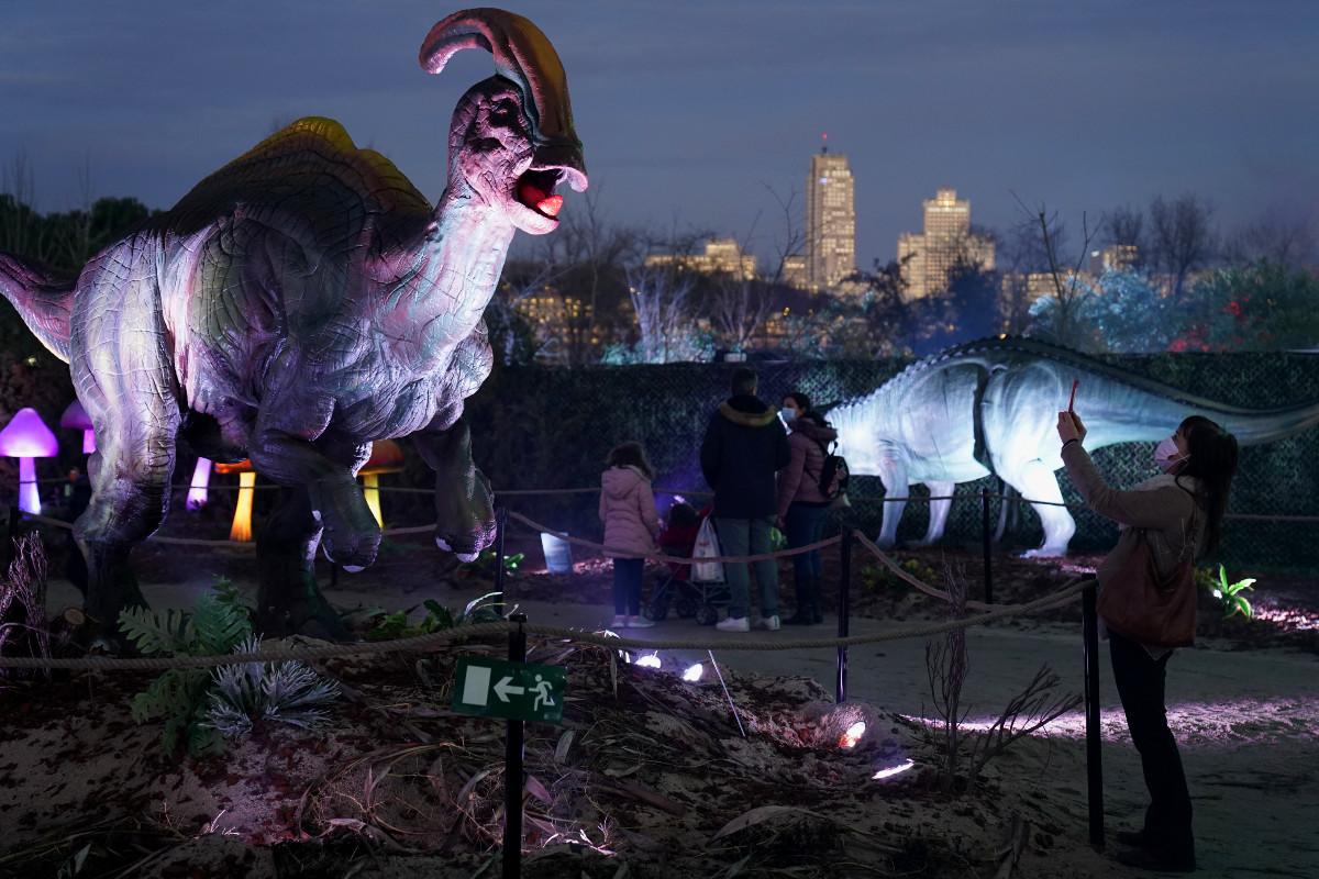 Visitamos una espectacular exposición de dinosaurios en Madrid, Navidad 2020