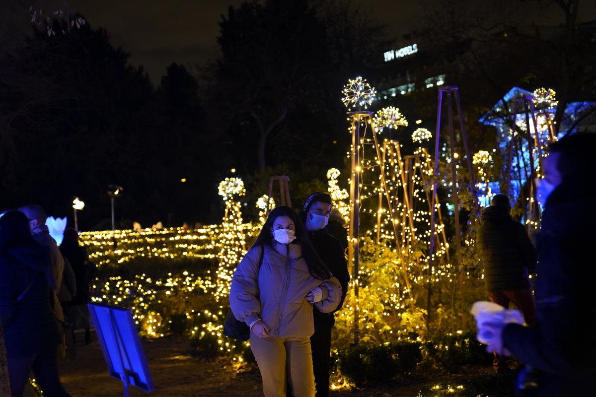 Espectáculo luminoso nocturno en el Real Jardín Botánico