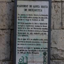 Cartel informativo de la arquitectura de la catedral de Teruel