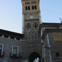 El campanario de la Catedral de Teruel es uno de sus grandes atractivos