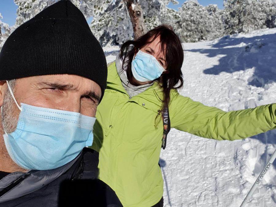 Los 'selfies' son inevitables en esta actividad, por lo extraordinario del paisaje...