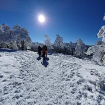 Un paseo con raquetas de nieve es relajante y reparador...