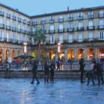 Plaza de una ciudad ideal para pasar unas vacacaiones de primavera