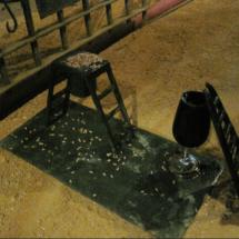 Escalerillas para ratones en las Bodegas Tío Pep